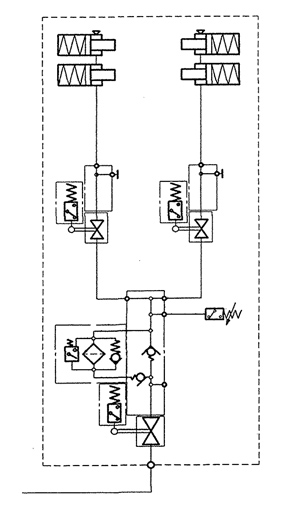 Hydraulic Circuit Diagram for each Pedestal